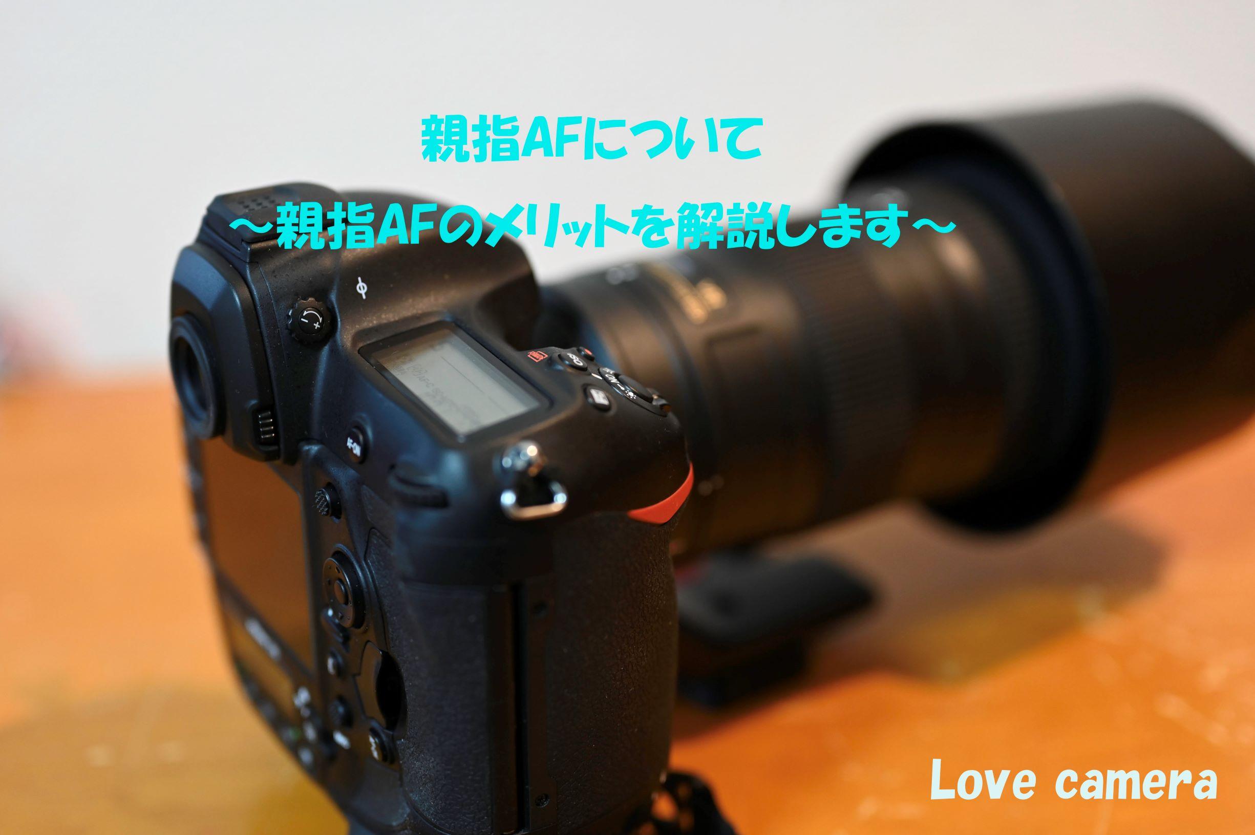 一眼カメラ 親指AFのメリットについて。ピント合わせが数倍楽になるよ
