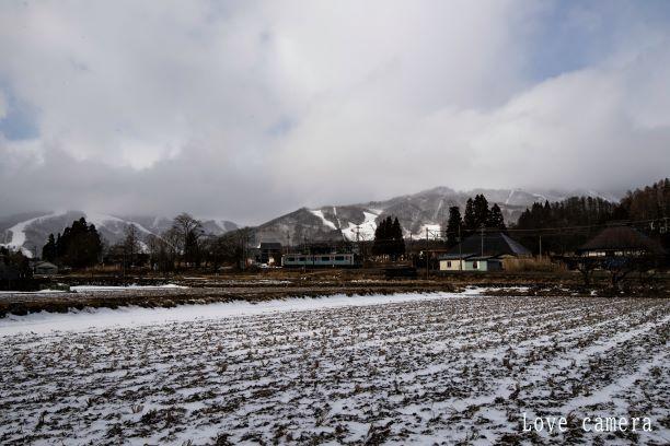 長野県白馬村で電車撮影をしてきました。山を背景にした電車風景