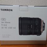 タムロン SP24-70mm F/2.8 Di VC USD G2を購入した理由について